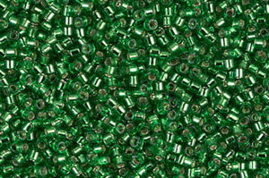 Silver Lined Light Green Delica Beads