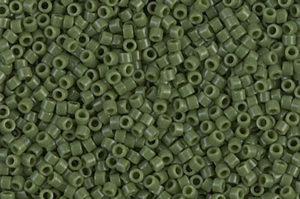 Opaque Avocado Delica Beads
