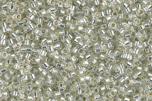 Silver Lined Pale Moss Green Delica Beads