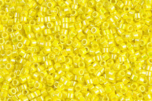 Opaque Yellow AB Delica Beads