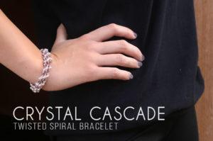 Crystal Cascade Twisted Spiral Bracelet